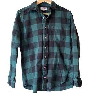 American Apparel lumberjack plaid button up shirt